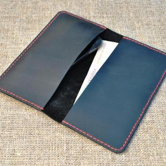 Чехол книжка для мобильного телефона из натуральной кожи H05-0+red