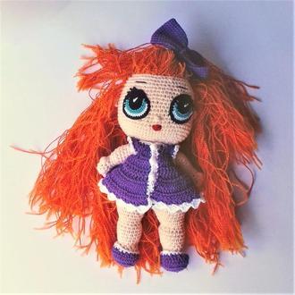 Кукла Лол Рыжая Соня связанная крючком