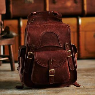 Качественный большой рюкзак из натуральной кожи