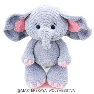 Мастер-класс вязаный слон. Слон крючком. Амигуруми. Вязаные игрушки. Вязаный слон. Схема вязания