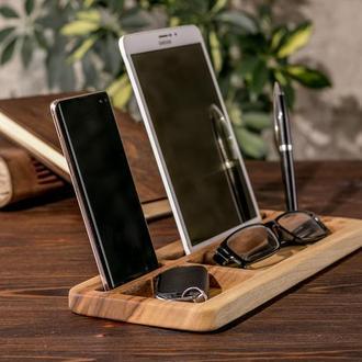 Підставка Органайзер Для Ручок Кредиток Телефону Galaxy Huawei Смартфона Xiaomi Гаджета З Дерева