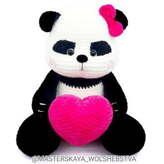 Мастер-класс вязаная панда. Панда крючком. Описание вязания панды. Амигуруми. Схема вязания