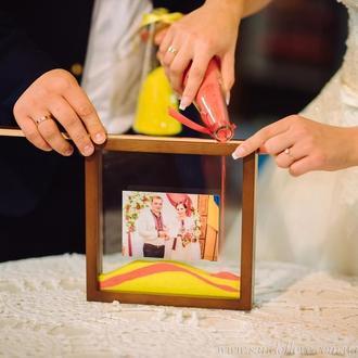 Набор для песочной церемонииРамка с фото