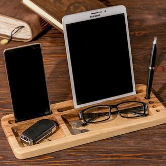 Подставка Органайзер Для Планшета Телефона iPhone iPad Смартфона Очков Ключей Ручек Ручки Паспорта