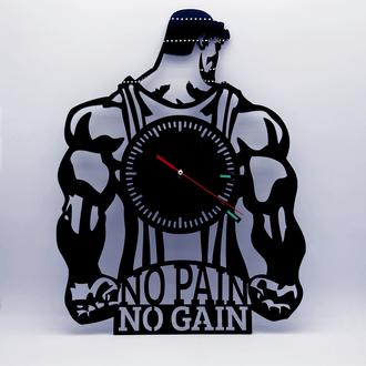 Часы настенные — No Pain No Gain