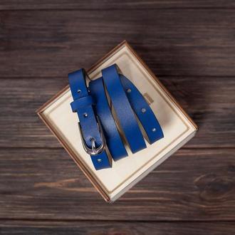 Синий ремень Saint Shalih в подарок девушке
