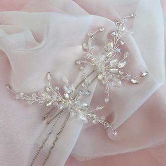 Весільні шпильки для волосся, прикраси в зачіску, прикраси для весільної зачіски,шпилька