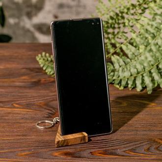 Аксессуар Деревянный Брелок Для Ключей Подставка Держатель Органайзер Для Телефона iPhone Смартфона
