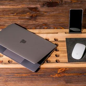 Настольный Органайзер Для Ноутбука Макбука Macbook - Подставка Под Ноутбук - Подарок