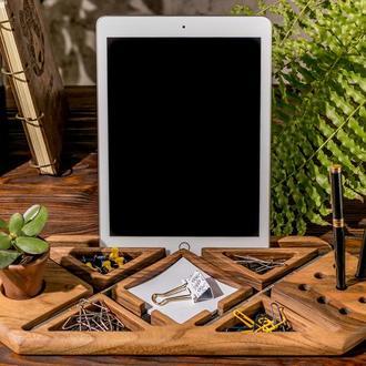 Подставка Для Рабочего Офисного Стола Телефона Планшета Ручек iPhone Стикеров С Логотипом Из Дерева
