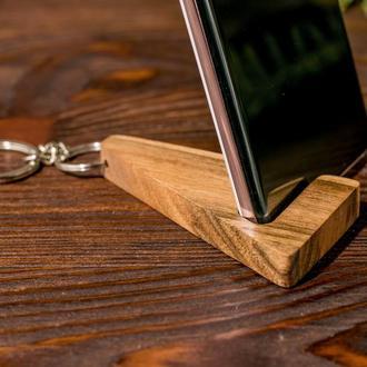 Аксессуар Брелок Подставка Для Телефона Планшета Смартфона iPhone Именной Подарок