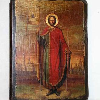 Икона под старину Александр Невский (размер 13*17 см)