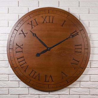"""Деревянные настенные часы """"Древний Рим Ø90"""" ручной работы"""