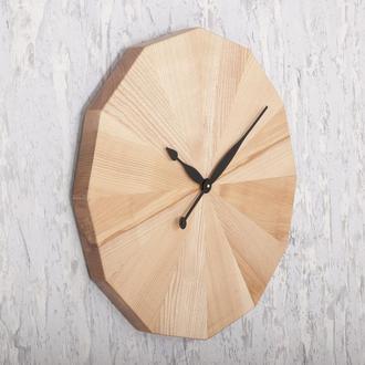 Деревянные настенные часы Dabo Flower Ø60 - Natural
