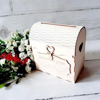 Шкатулка из бабочек для денежных даров 24х15х15 см с покраской, а ′Best Wishes(Наилучшие пожелания)