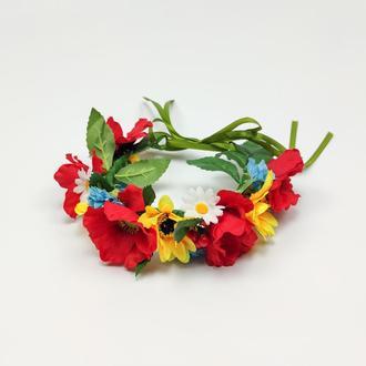 Венок на голову из цветов. Украшение для волос
