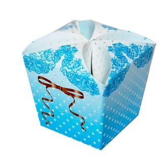 Бонбоньерка для конфет голубого цвета (арт. B-47)