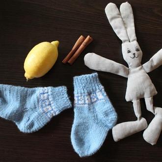 вязаные носочки для ваших сыночков и дочек!