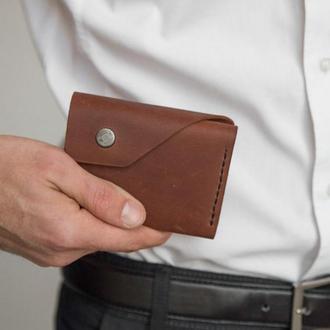 Компактный кошелек из кожи для мужчин и женщин
