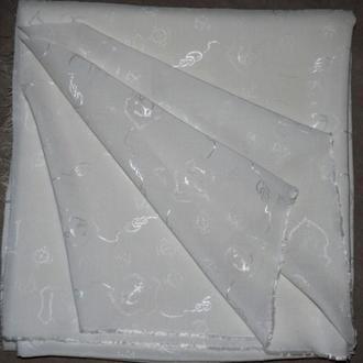 Ткань хлопковый штапель-жакард, 1,5м.