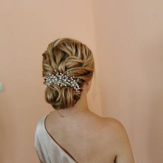 Свадебная веточка для волос, гребешок для волос, веточка для невесты