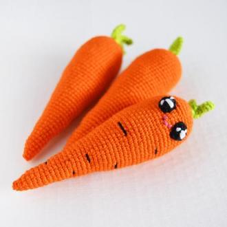 Вязаная морковка ,мягкая игрушка крючком