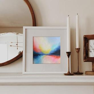 Картина ручной работы, абстрактный пейзаж, современная картина