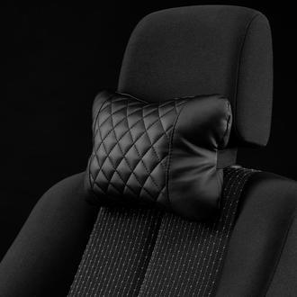 Подушка на подголовник от Carbag Черная с черной строчкой