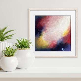 Яскрава Сучасна Картина, Абстрактний живопис на полотні, Стильний Подарунок
