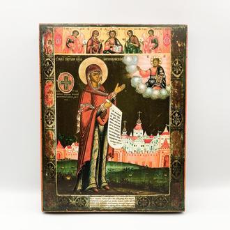 Икона православная Святая Богородица Можайская, дерево, краски, лак