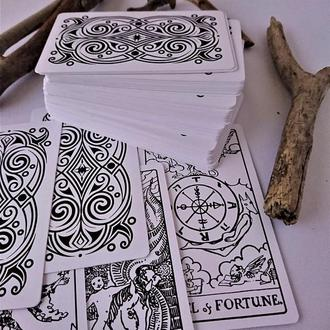 "Карты Таро "" White Black Foil """