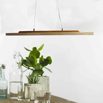Светильник LED подвесной линейный светодиодный потолочный деревянный