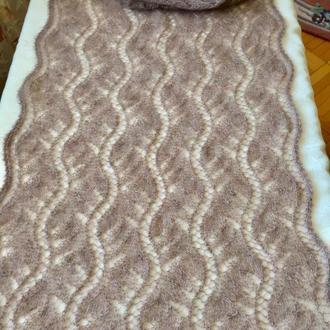 Ажурный мохеровый шарф 1