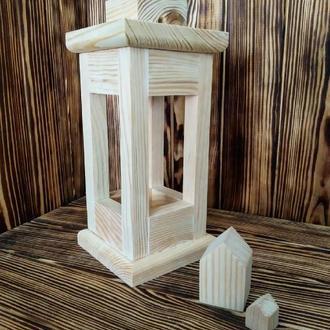 Фонарь декоративный деревянный 27 см