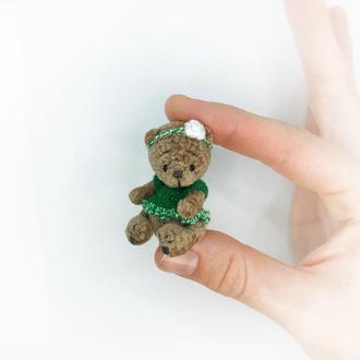 Мишка тедди маленький миниатюрный медведь игрушка амигуруми