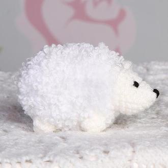 Ёжик маленький белый