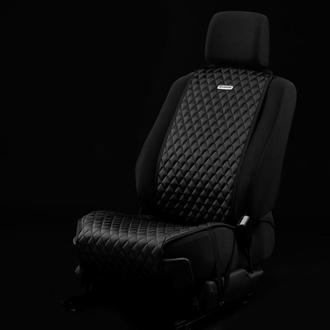 Накидка на сидіння автомобіля від Carbag Чорна з чорною строчкою і чорним кантом
