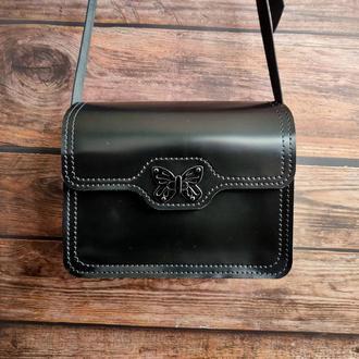 Small women's case bag, Falconcia black.