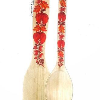 """Кухонный набор """"Осенняя"""" . Деревянная ложка и лопатка."""