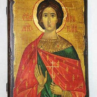 Икона под старину  Святой мученик Анатолий Никейский
