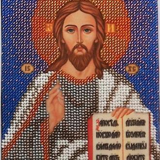 Икона Господа Вседержителя, вышика бисером