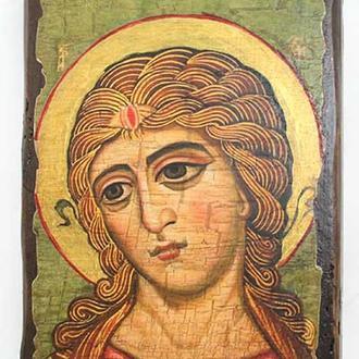 Икона под старину Ангел Златые Власы (размер 7*10 см)