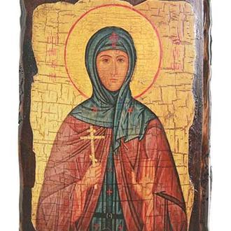 Икона под старину  Святая преподобная Ангелина Сербская (размер 17*23 см)