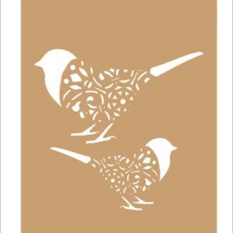 Трафарет 13х19 см Ажурные птички
