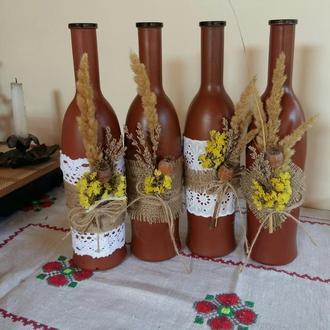 Декор бутылки вина
