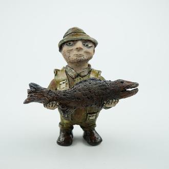 Статуэтка рыбак Подарок рыбаку