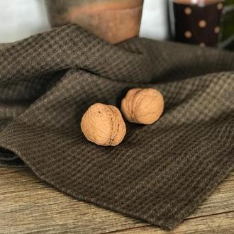 Вафельное льняное полотенце