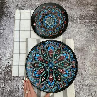 Набор тарелок с ручной росписью