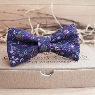 Бабочка фиолетовая в цветочек