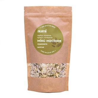 Смесь семян для салатов, семена конопли, тыквы, подсолнуха, белого кунжута сушеные, 100г, микс для снека